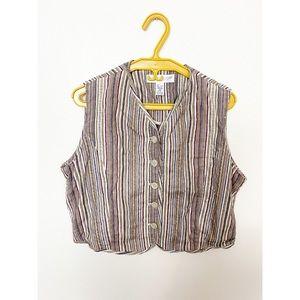 Vintage Linen Vest